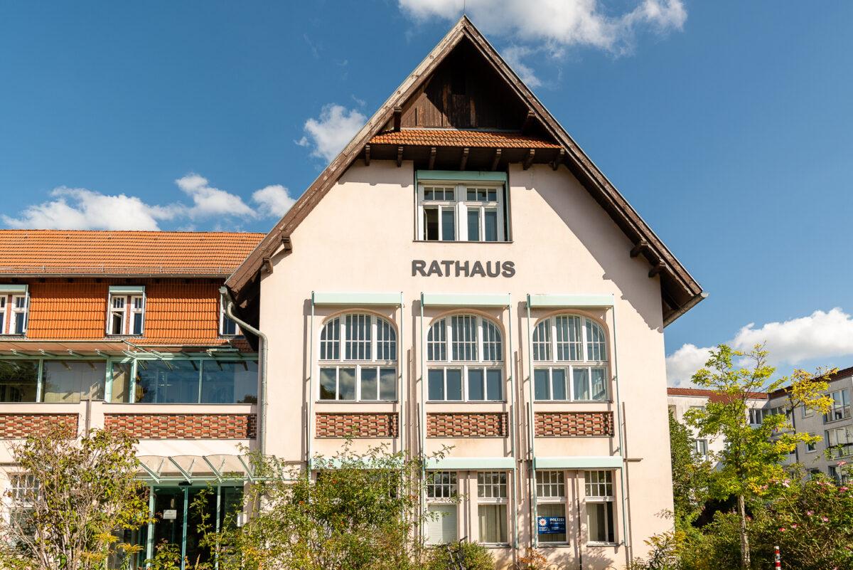Das Rathaus in Wandlitz, im schönen Naturpark Barnim, Barnimer Land, Brandenburg.