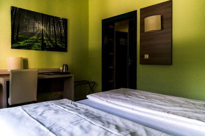 Ein Doppelzimmer des Waldhotels Wandlitz **** in Wandlitz, im schönen Naturpark Barnim, Barnimer Land, Brandenburg.