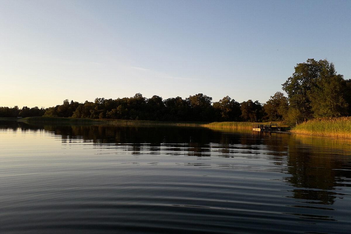 Ein Gewässer zum Angeln im schönen Naturpark Barnim, Barnimer Land, Brandenburg.