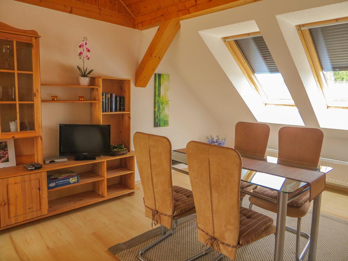Der Wohnbereich des Ferienhauses PAI in Wandlitz, im schönen Naturpark Barnim, Barnimer Land, Brandenburg.