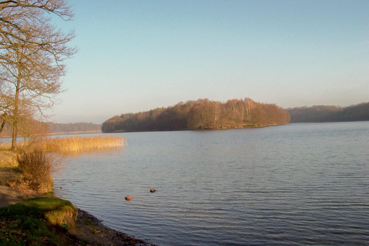 Der Liepnitzsee in Wandlitz, im schönen Naturpark Barnim, Barnimer Land, Brandenburg.
