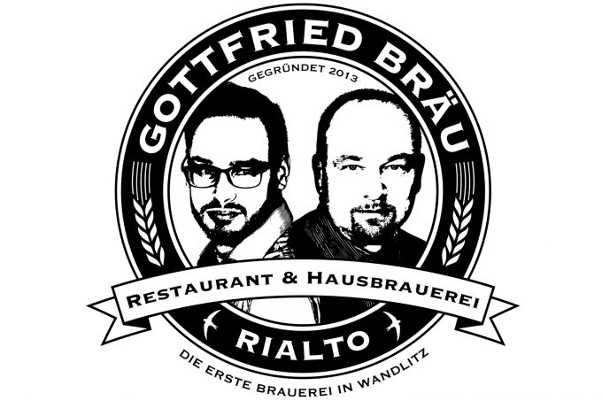 Logo des Brauhauses & Restaurants Rialto in Wandlitz, im schönen Naturpark Barnim, Barnimer Land, Brandenburg.