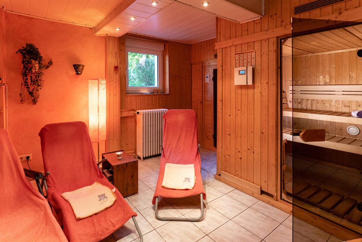 Die Sauna am See in Wandlitz, im schönen Naturpark Barnim, Barnimer Land, Brandenburg.