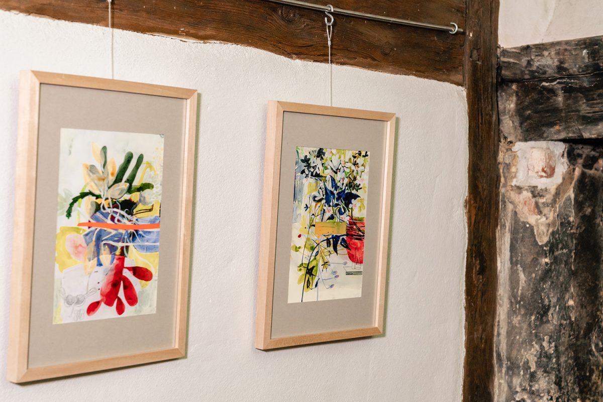 Kunstwerke in der Galerie im Alten Rathaus von Biesenthal im schönen Naturpark Barnim, Barnimer Land, Brandenburg.