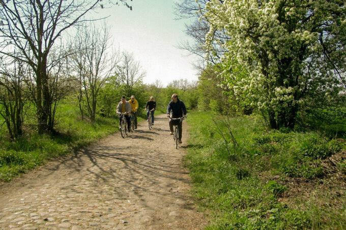 Radfahren im schönen Naturpark Barnim, Barnimer Land, Brandenburg.