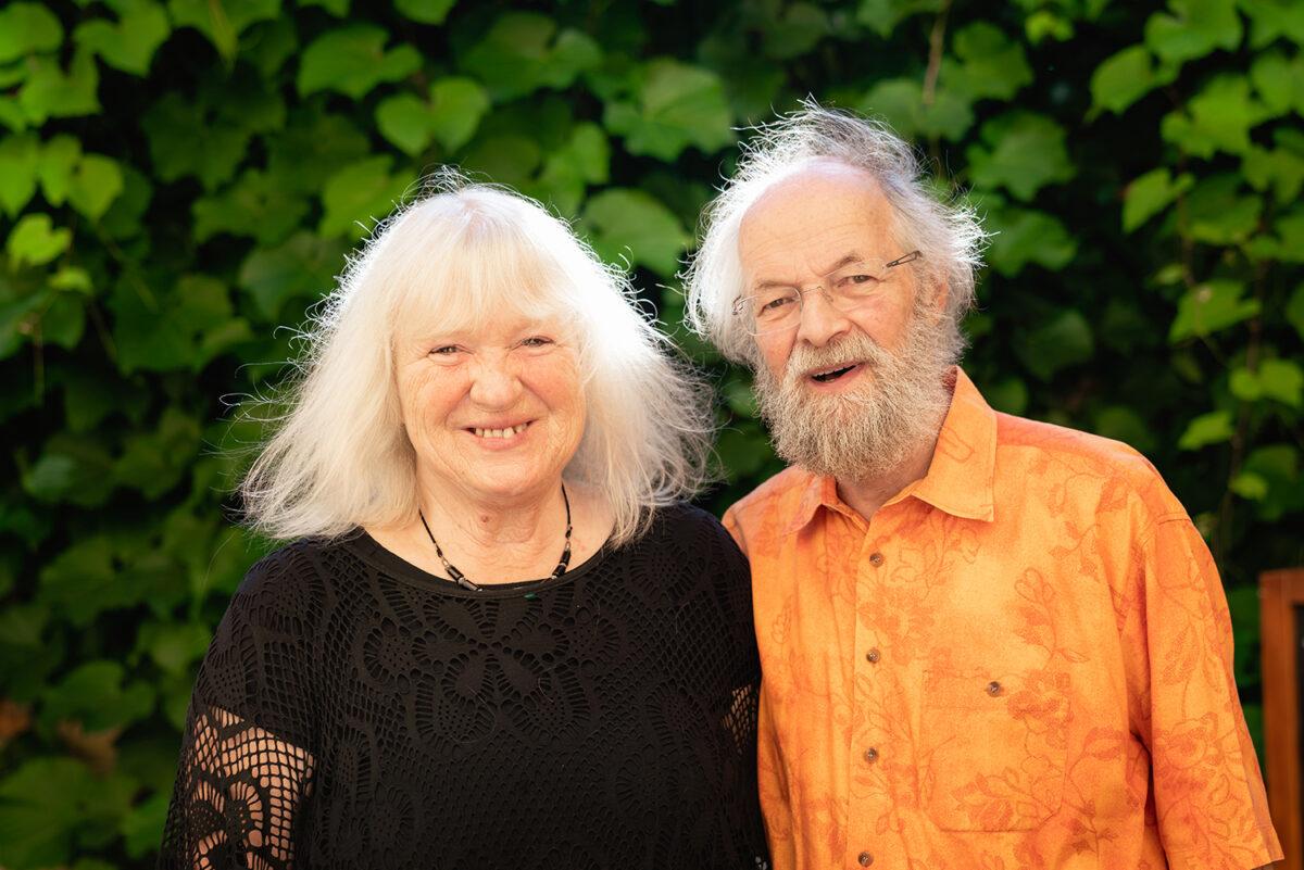 Marion Schuster und Jürgen Günther, die Organisatoren des Georges Brassens Festivals in Basdorf, Wandlitz, im schönen Naturpark Barnim, Barnimer Land, Brandenburg.