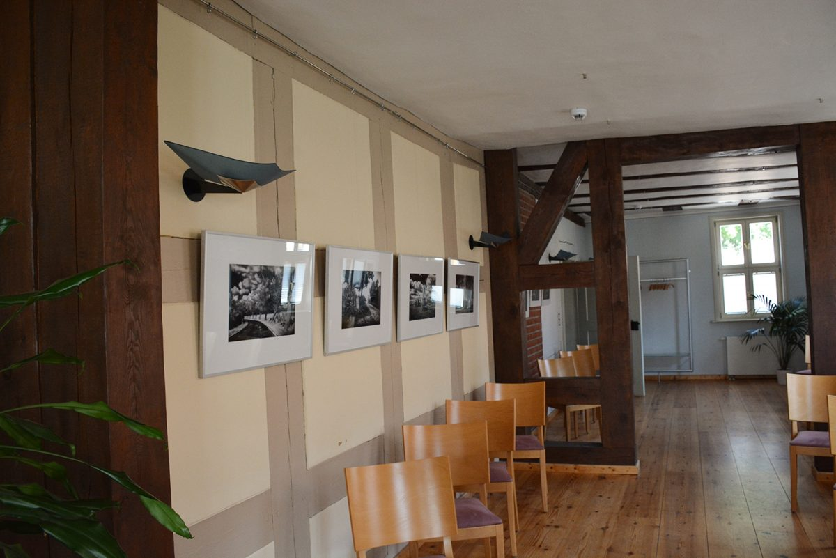 Die Galerie im Alten Rathaus von Biesenthal im schönen Naturpark Barnim, Barnimer Land, Brandenburg.